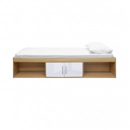 Dakota Oak White High Gloss Contemporary Cabin Bed