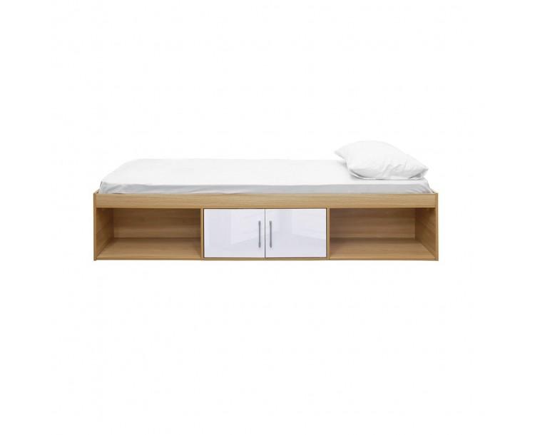 Dakota Oak White High Gloss Contemporary Cabin Bed