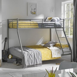 Primo Bedroom Silver Triple Sleeper Angled Ladder