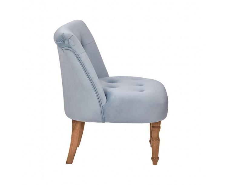 Lydia Duck Egg Blue Soft Velvet Chair