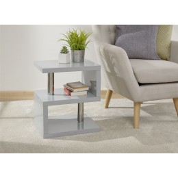 Polar High Gloss LED Side Table Grey