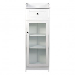 Alaska Glass Cabinet White