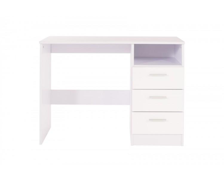 Ottawa Gloss Effect Dresser Study Desk Dressing Table Storage Drawer White