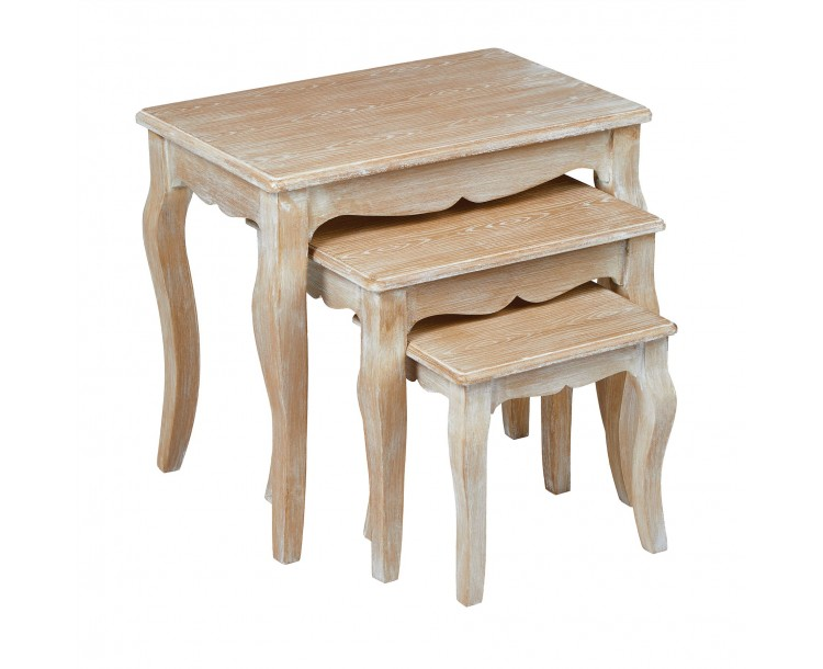 Provence Nest of 3 Tables Weathered Oak