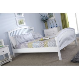 5ft King Size Madrid High Foot End 150CM Bed White
