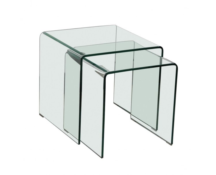 Azurro Nest Of 2 Tables Glass