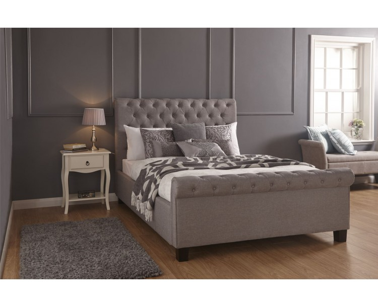 Layla 5FT King Size 150cm Ottoman Bed Bedframe Silver