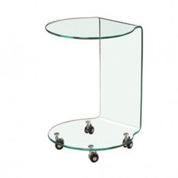 Azurro Compact Glass Lamp Table