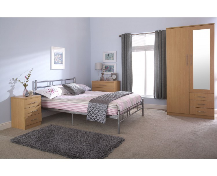 Silver Morgan 4ft Small Double 120cm Bed Frame Bedroom