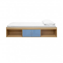 Dakota Oak Blue Laminated High Gloss Cabin Bed