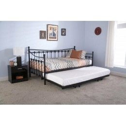 Single 3ft 90cm Black Memphis Day Bed Frame Only