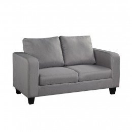 Living Room Grey Fabric Sofa in A Box