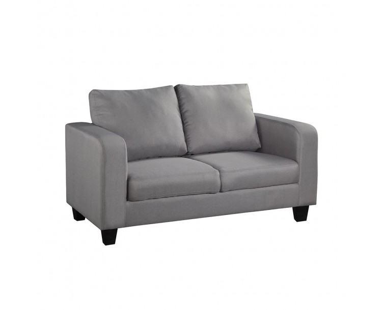 Living Room Grey Fabric Sofa in A Box