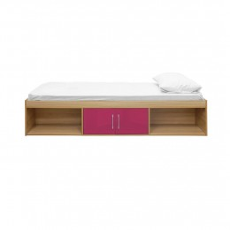 Bedroom Dakota Oak Pink High Gloss Fronts Cabin Bed