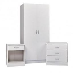 Delta Bedroom Furniture Set White