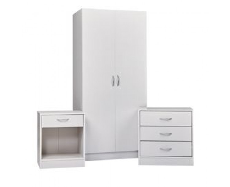 Delta Bedroom Furniture Set White