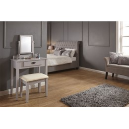 Shaker Style Dressing Table with Mirror and Stool Grey