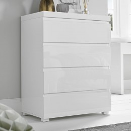 Puro Classic White Bedroom 4 Drawer Chest