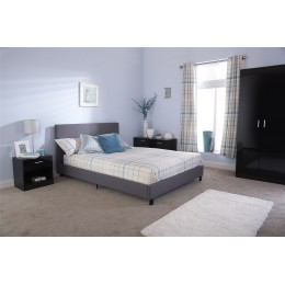 Silver 4ft6 Double Fabric Bed In A Box Bedroom Furniture