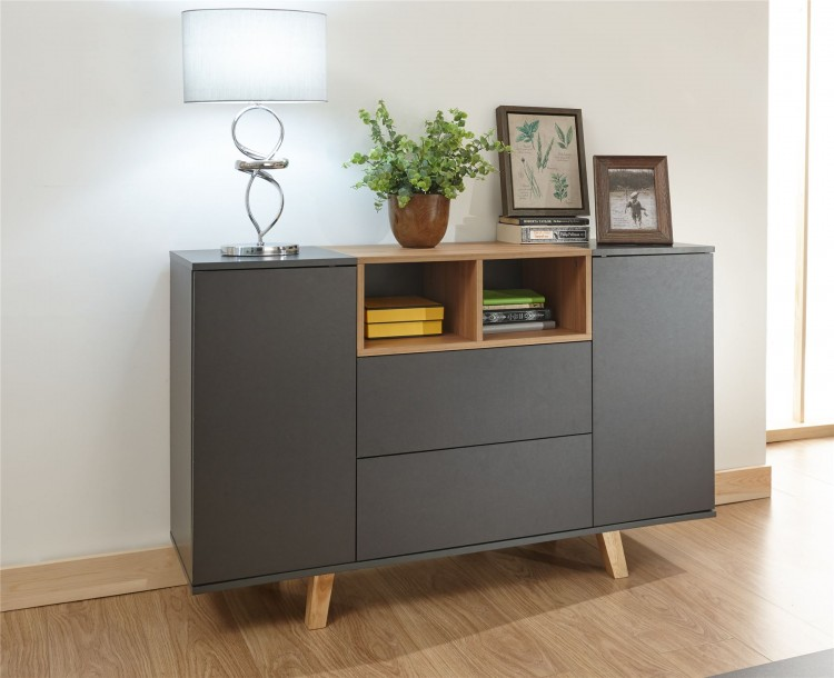Modena Grey Compact Sideboard Console