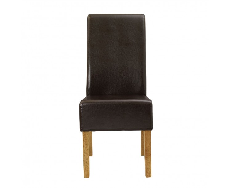 Padstow Chair Brown Pack of 2
