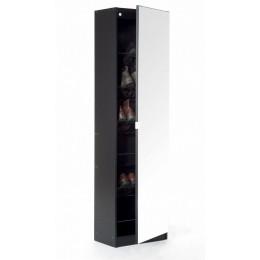 Modern Hallway Mirrored Living Room Shoe Cabinet 150 cm Black