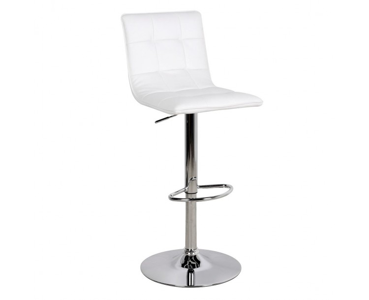 Faux Leather White Vigo Bar Stool