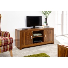 Modern Living Room Hampton Acacia 2 Door 3 Shelf TV Unit