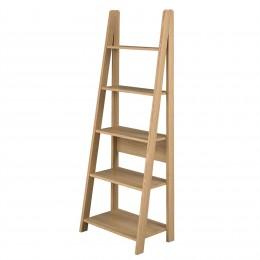 Tiva Stylish Oak Ladder Bookcase