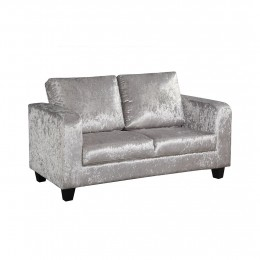 Sofa in A Box Silver Crushed Velvet
