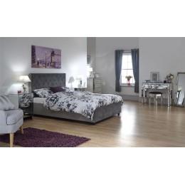 Utah 5FT Kingsize 150cm Ottoman Bed Bedframe Sundance Grey