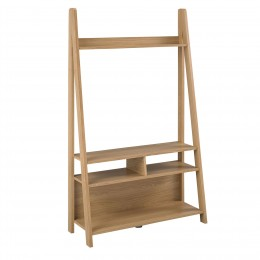Tiva Oak Compact Ladder TV Unit