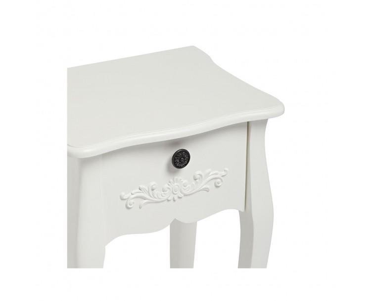 Antoinette 1 Drawer Night Stand White