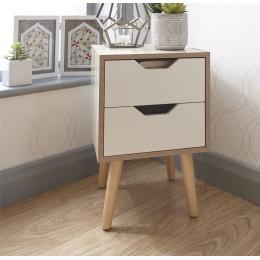 Stockholm 2 Drawer Nightstand Bedroom Furniture White Oak