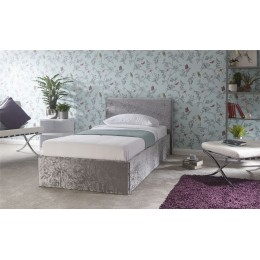 3ft Single Side Lift 90cm Bed Bedframe Crushed Velvet
