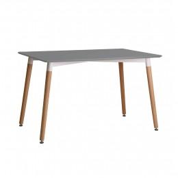 Elegant Fraser Dining Table Grey Wood