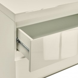 Puro Vream High Gloss 2 Drawer Bedside