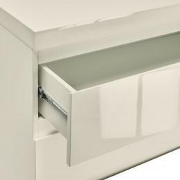 Puro Vream High Gloss 2 Drawer Bedside