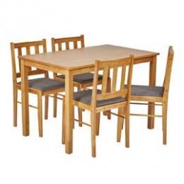 Trinity Solid Oak Dining Set Slim Legs