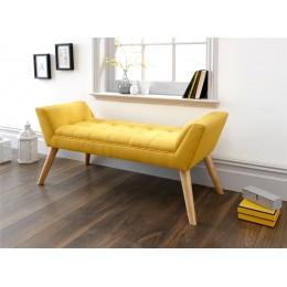Milan Upholstered Bench Mustard