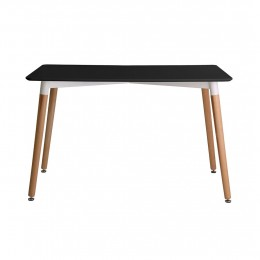 Retro Elegant Dining Table Matt Black
