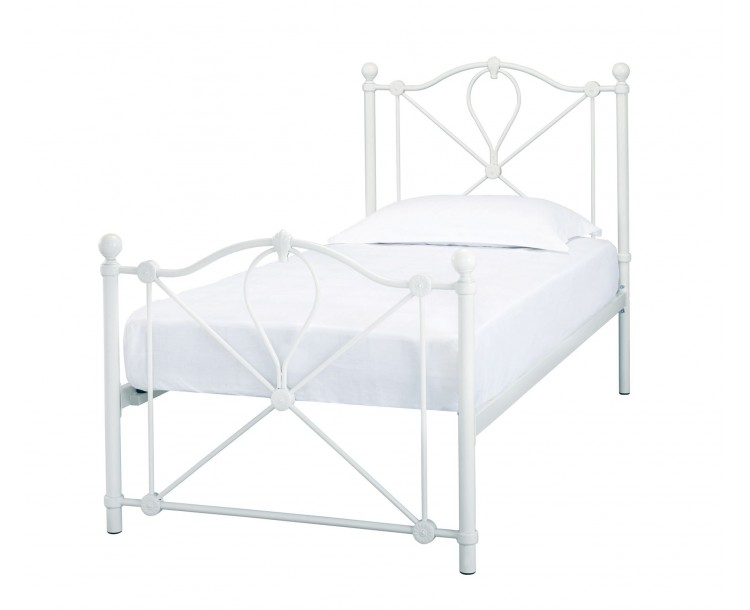 Bronte 3ft Single Bed White