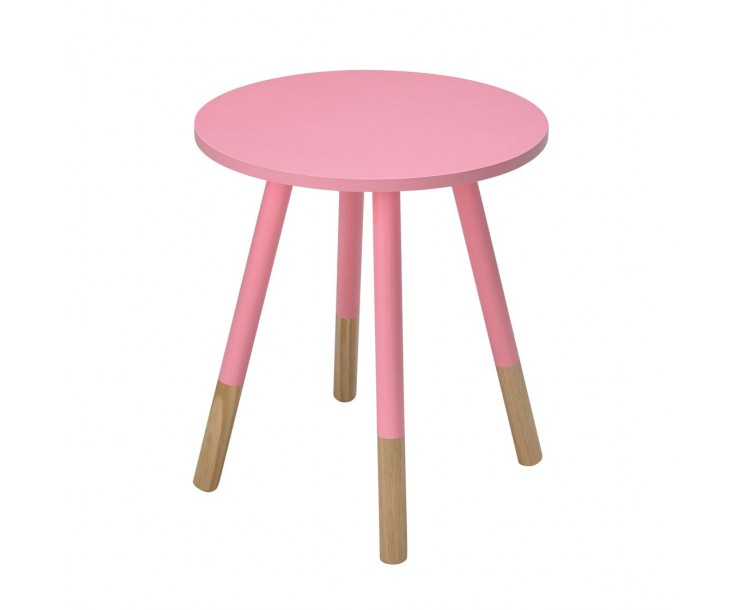 Costa Stylish Pink Wood Side Table