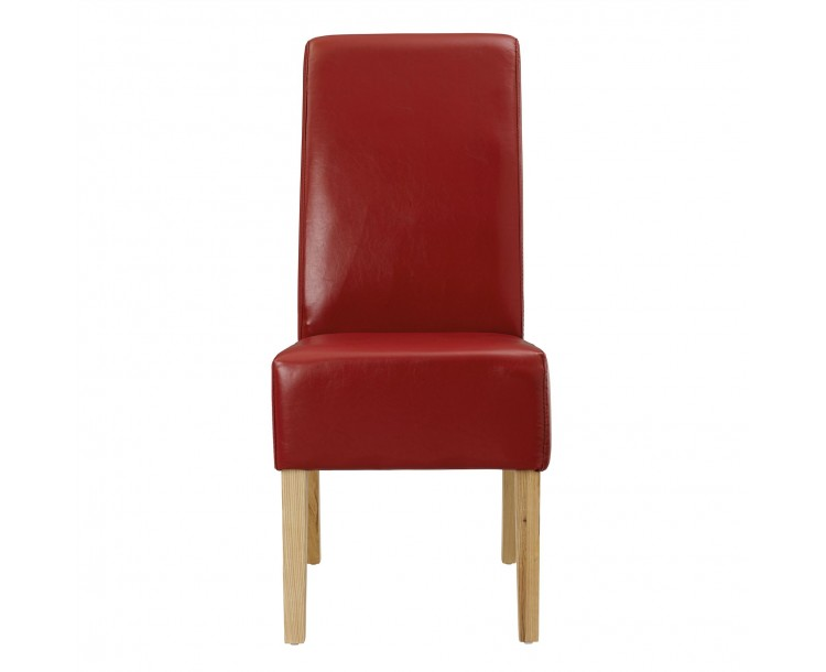 Padstow Red Faux Leather Chair Pack of 2