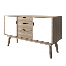 Scandi Oak 2 Door Sideboard White