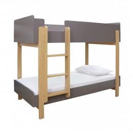 Contemporary Stylish Hero Bunk Bed Grey