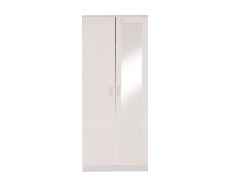 Ottawa 2 Door Mirror Wardrobe Bedroom Furniture White
