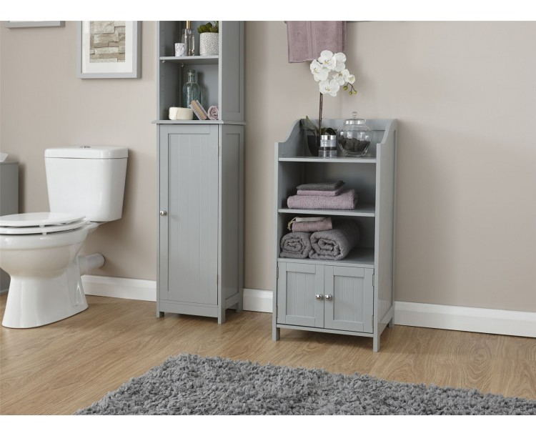 Colonial Bathroom 2 Door Deluxe Cupboard Storage Grey