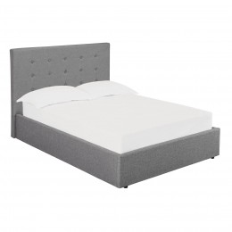 Lucca Grey Ottoman Bed Base 5FT Kingsize Bed