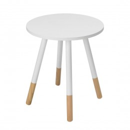 Costa White Compact Side Table